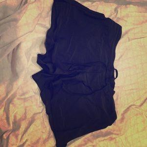 Black semi used swim shorts